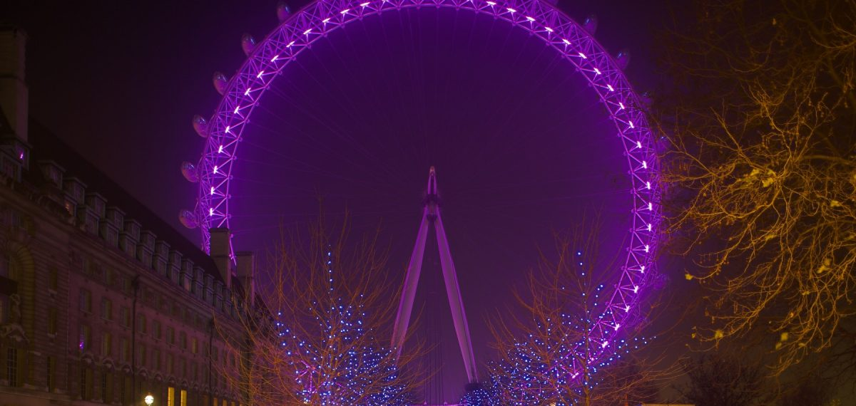 London Eye in Pink © Louise Stickland