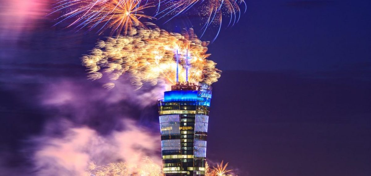 philips-lighting-warsaw-spire-fireworks