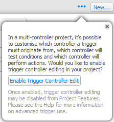 Enable Trigger Controller Edit